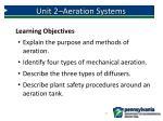 unit 2 aeration systems