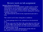 review week six lab assignment19