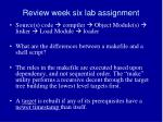 review week six lab assignment4