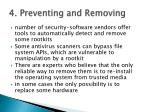 4 preventing and removing1