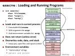 execve loading and running programs
