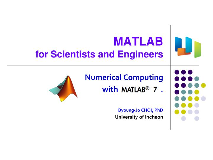 PPT - MATLAB for Scientists and Engineers PowerPoint Presentation