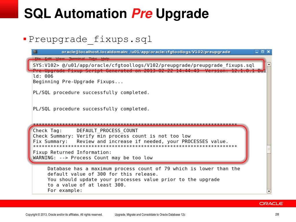PPT - Upgrade, Migrate & Consolidate to Oracle Database 12c