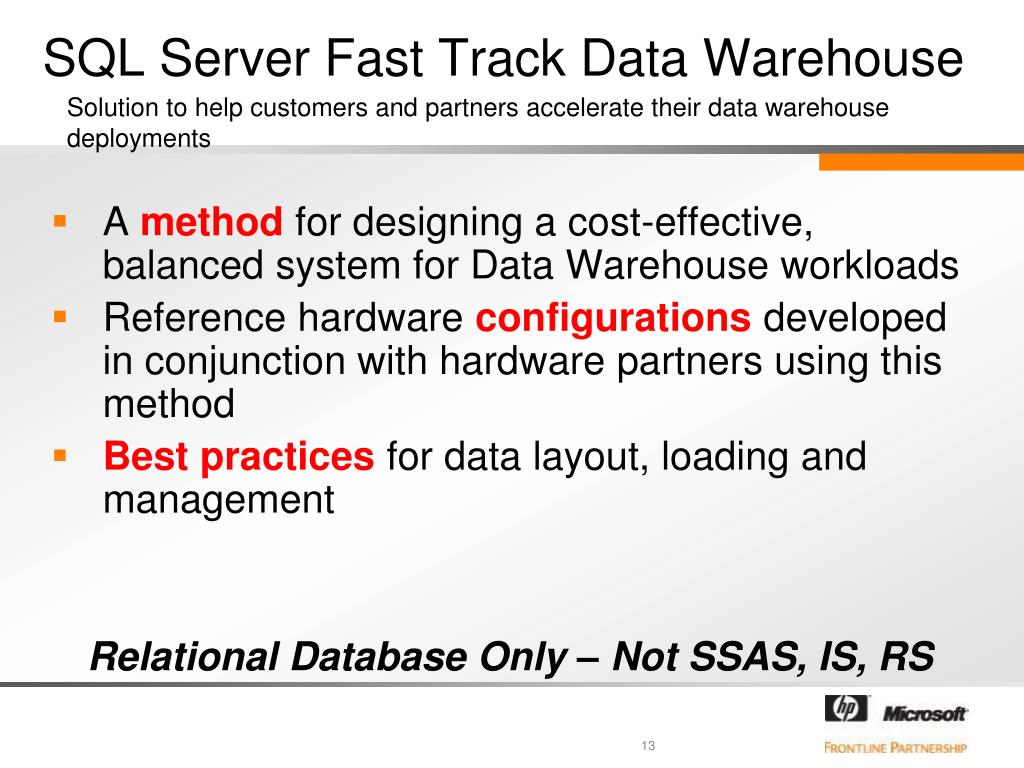 PPT - Implementing the new Fast Track 3 0 Data Warehouse Reference
