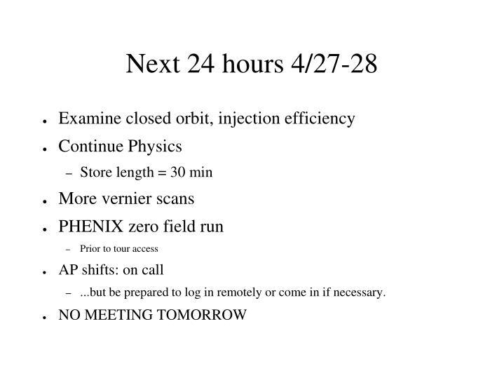 Next 24 hours 4/27-28