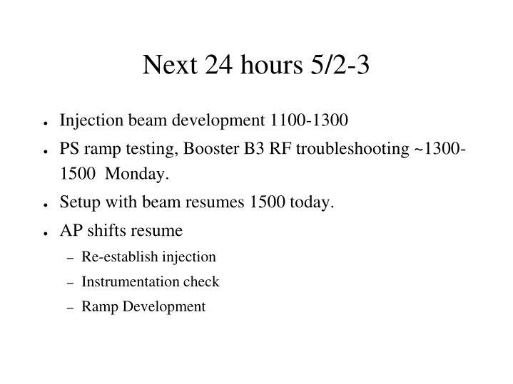 Next 24 hours 5/2-3