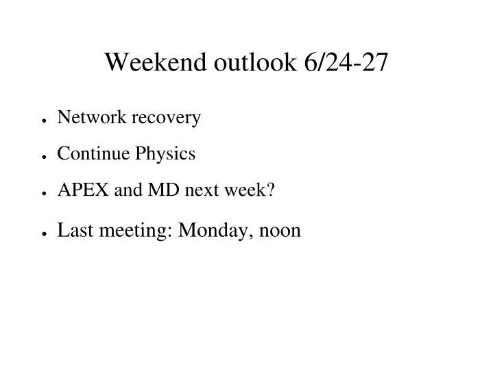 Weekend outlook 6/24-27
