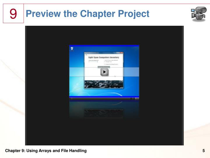 Preview the Chapter Project