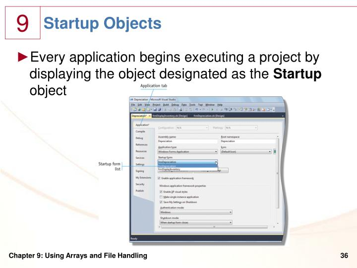 Startup Objects