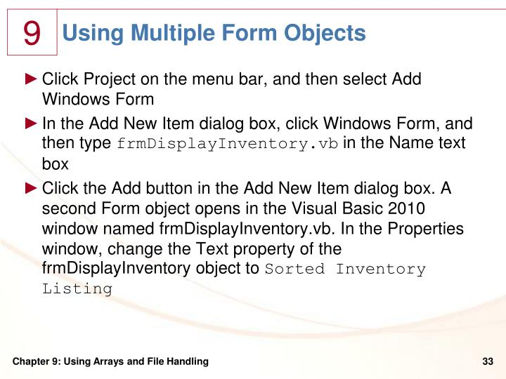 Using Multiple Form Objects