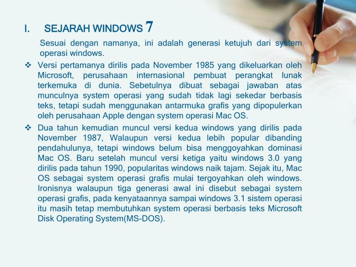 SEJARAH WINDOWS