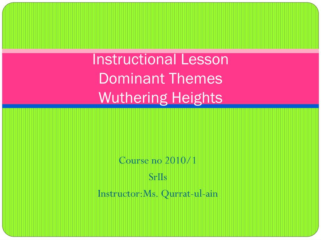 what is the theme of wuthering heights
