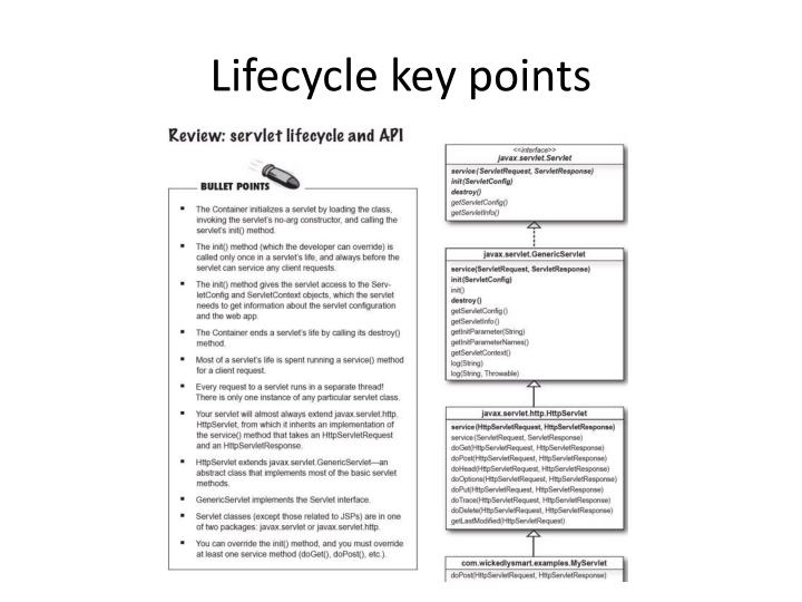 Lifecycle key points