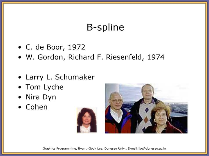 B-spline