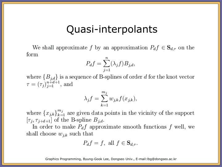 Quasi-interpolants