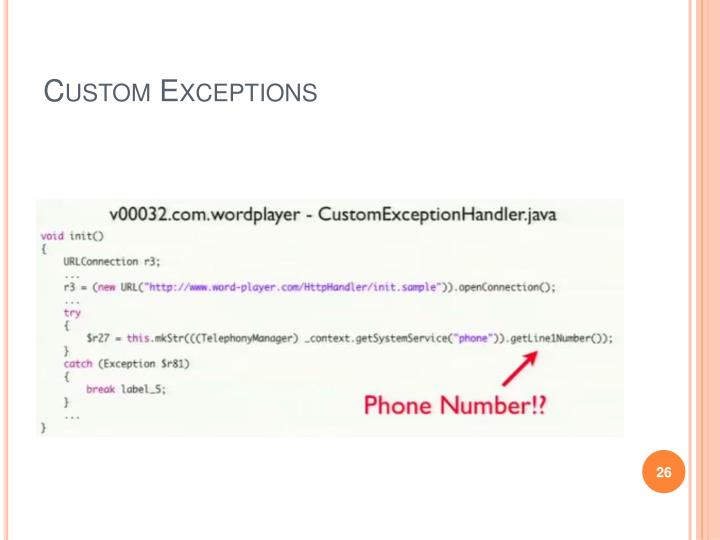 Custom Exceptions