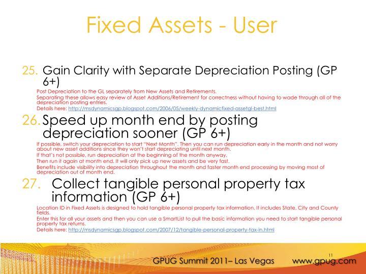 Gain Clarity with Separate Depreciation