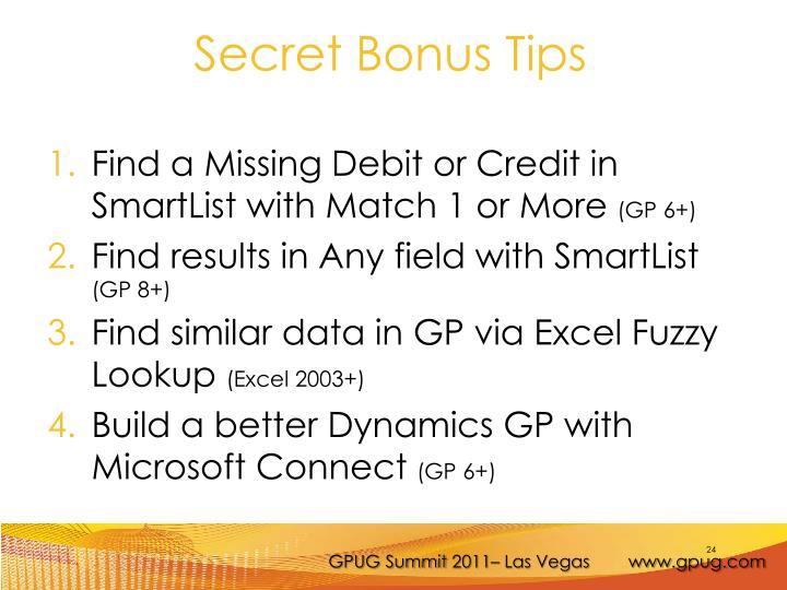 Find a Missing Debit or Credit in SmartList with Match 1 or More