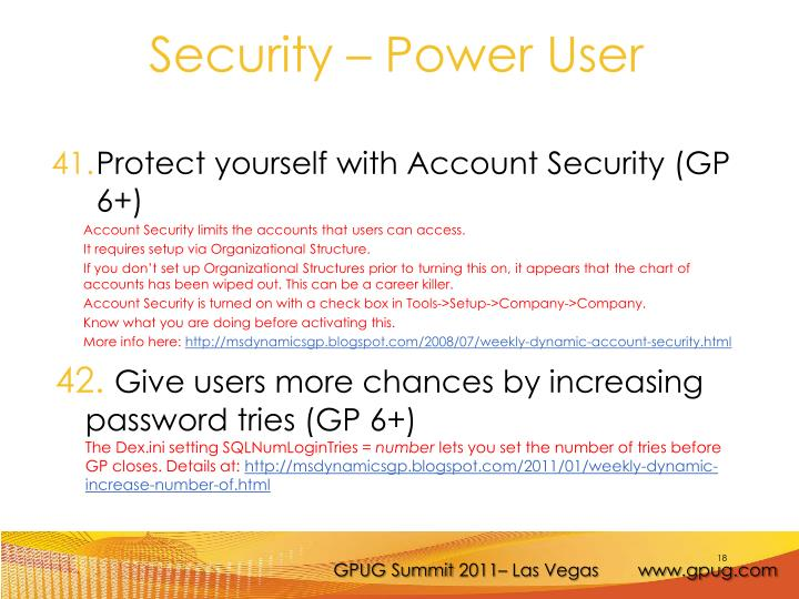 Protect yourself with Account