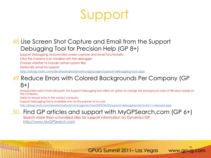 Use Screen Shot Capture and Email from the Support Debugging Tool for Precision