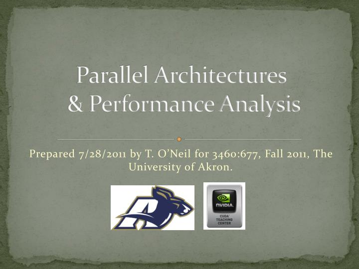 parallel architectures performance analysis n.