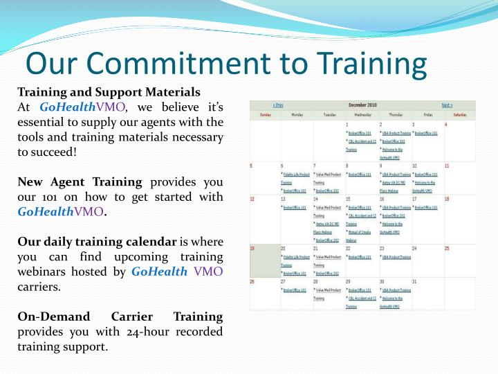 Our Commitment to Training
