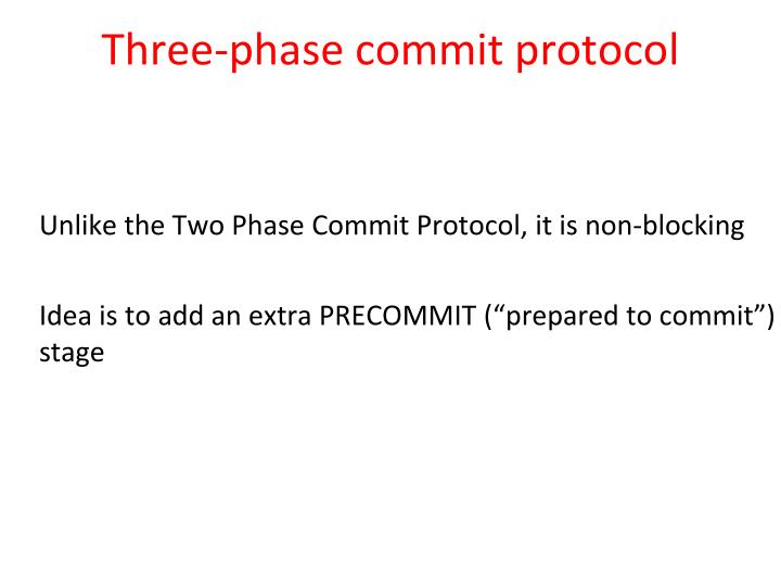 Three-phase commit protocol