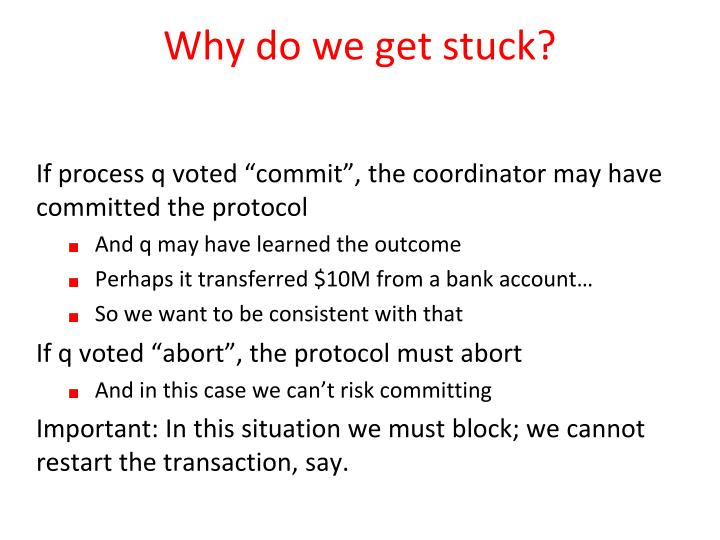 Why do we get stuck?