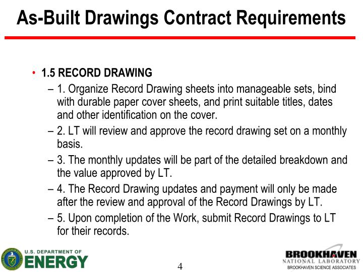 As-Built Drawings Contract Requirements