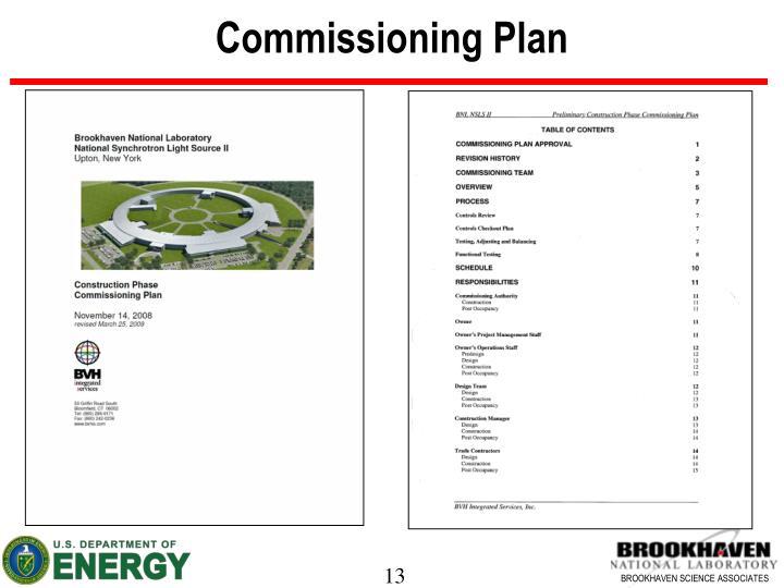 Commissioning Plan