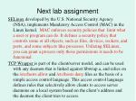 next lab assignment11