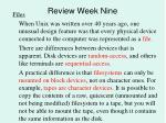 review week nine5