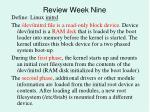 review week nine6