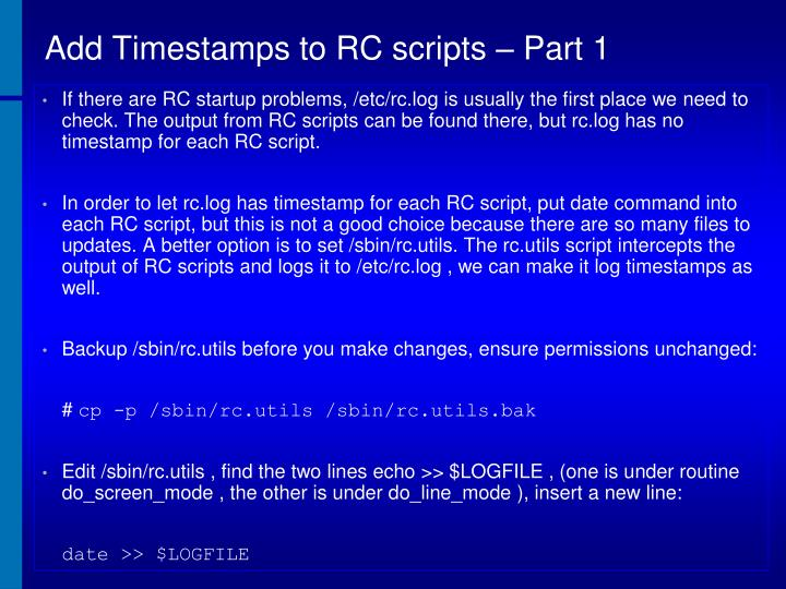 Add Timestamps to RC scripts – Part 1