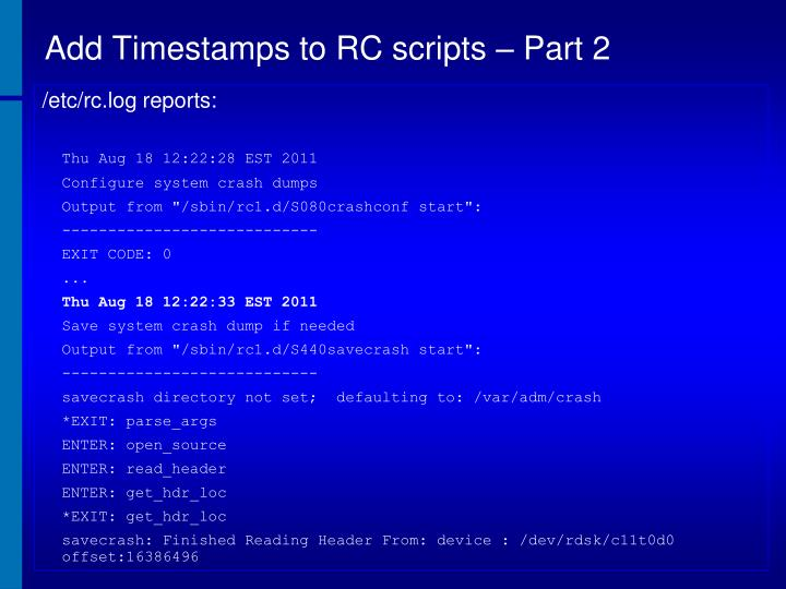 Add Timestamps to RC scripts – Part 2