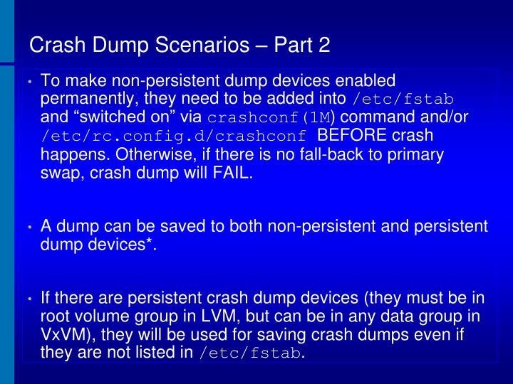 Crash Dump Scenarios – Part 2