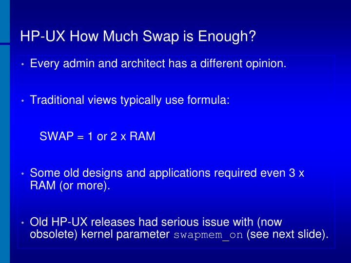 HP-UX How Much Swap is Enough?