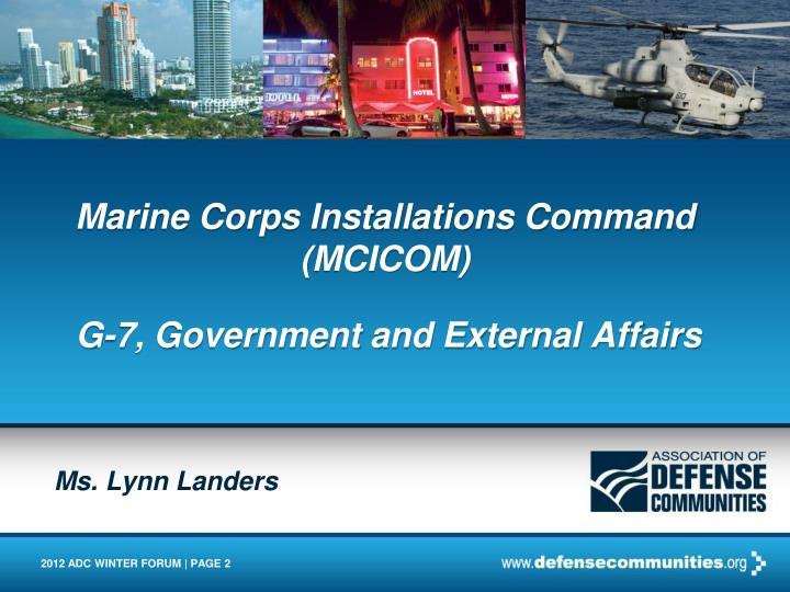 Marine corps installations command mcicom