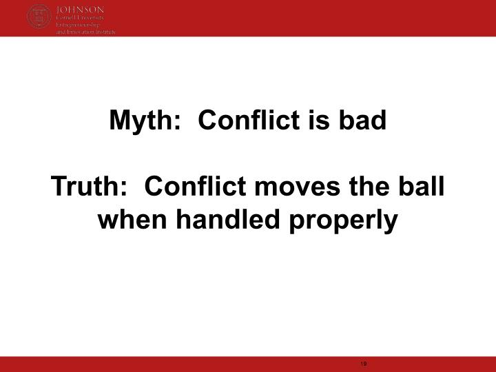 Myth:  Conflict is bad