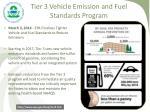 tier 3 vehicle emission and fuel standards program