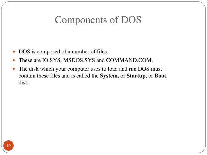 Components of DOS