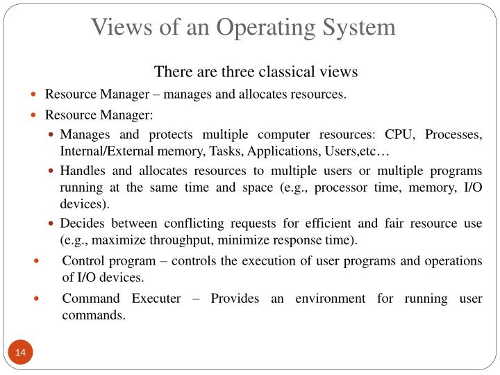 Views of an Operating System