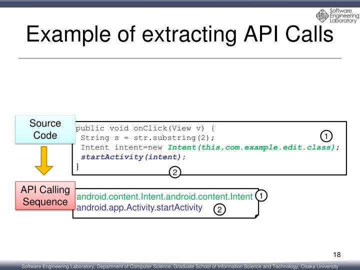 Example of extracting API Calls