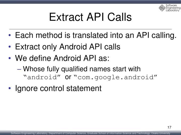 Extract API Calls