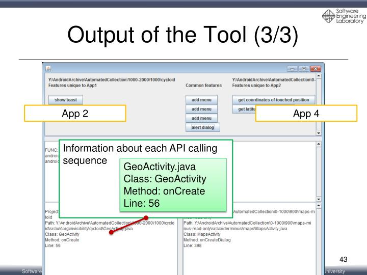 Output of the Tool (3/3)
