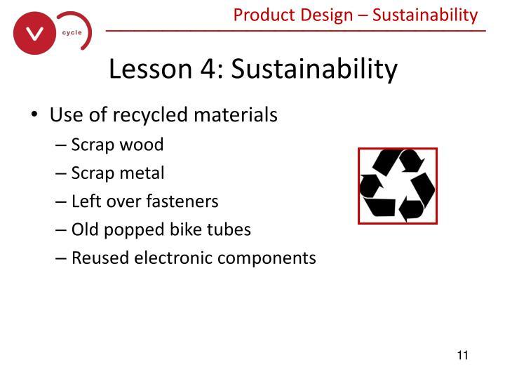 Product Design – Sustainability
