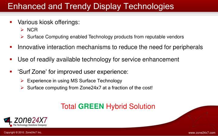 Enhanced and Trendy Display Technologies