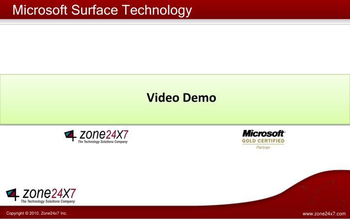 Microsoft Surface Technology