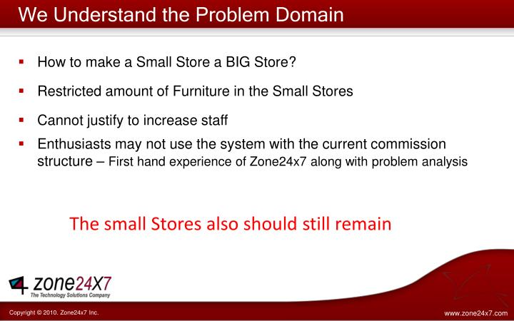 We Understand the Problem Domain
