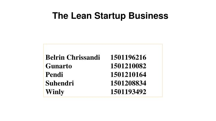 the lean startup business n.
